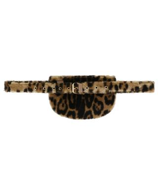 Petit sac ceinture en peau lainée imprimée léopard YVES SALOMON