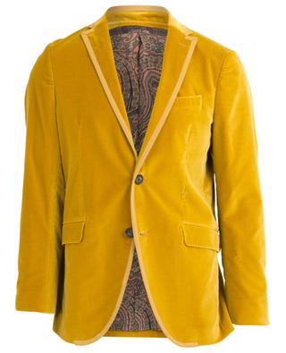 Single-breasted velvet blazer ETRO