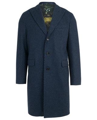 Houndstooth printed wool blend coat ETRO