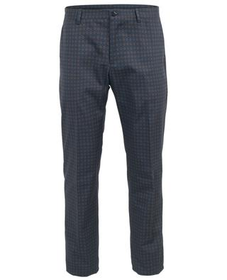 Printed cotton slim fit chino trousers ETRO