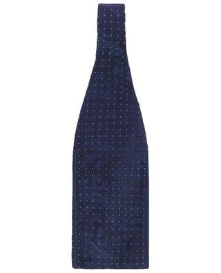 Paisley silk jacquard bowtie with golden dots ETRO