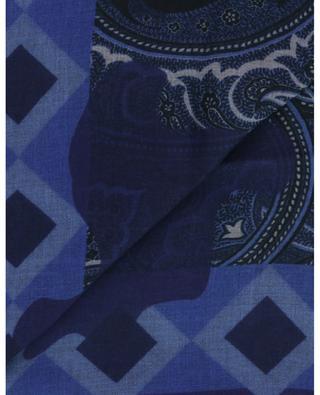 Shaal-Nur lightweight scarf paisley, triangles and diamonds ETRO