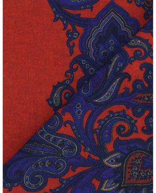 Double-faced scarf paisley and geometry ETRO
