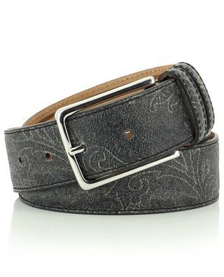 Paisley print leather belt ETRO