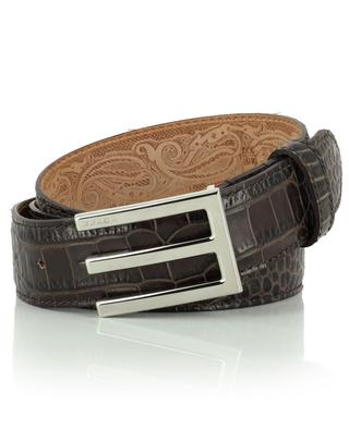Snake effect leather belt ETRO