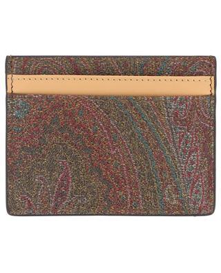 Porte-cartes en cuir imprimé Paisley ETRO