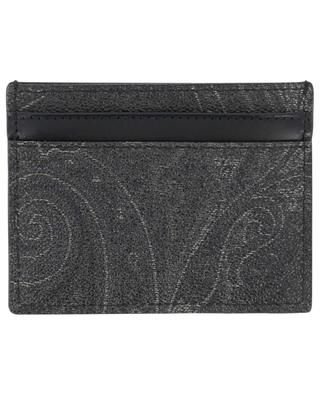 Paisley printed leather card holder ETRO