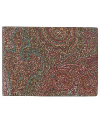 Paisley printed compact leather wallet ETRO