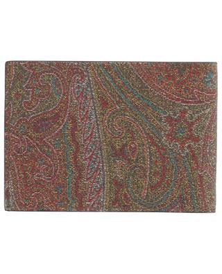 Kompakte Brieftasche aus Leder mit Print Paisley ETRO