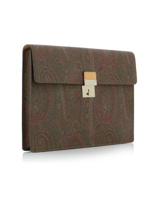 Porte-documents en cuir imprimé Paisley Icons ETRO