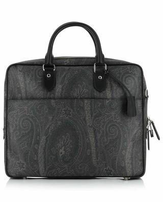 Paisley printed leather briefcase ETRO