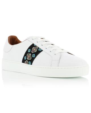 Leather sneakers with ethnic band ETRO