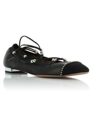 Mystique lace-up nappa leather ballet flats AQUAZZURA