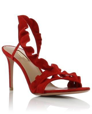 Sandalen aus Wildleder Ruffle 85 AQUAZZURA