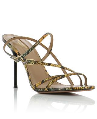 Carolyne 95 Kenya snake effect sandals AQUAZZURA