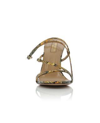 Sandales en cuir effet serpent Kenya Carolyne 95 AQUAZZURA