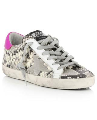 Baskets en cuir effet python Superstar GOLDEN GOOSE