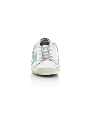 Ledersneakers mit Samt-Detail Superstar GOLDEN GOOSE