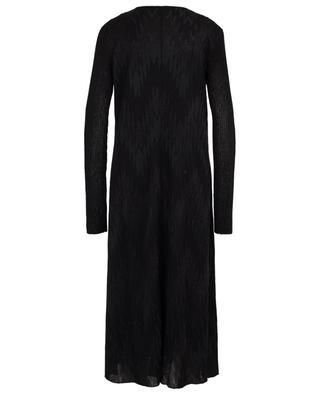 Chevron pattern long sparkling dress with M MISSONI