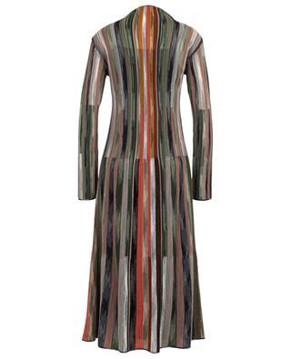 Virgin wool and viscose striped midi dress M MISSONI