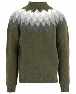 Seamless diamond patterned Shetland jumper OFFICINE GENERALE
