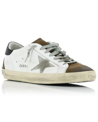 Superstar leather and suede sneakers with grey star GOLDEN GOOSE