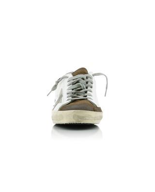 Baskets en cuir et daim avec étoile grise Superstar GOLDEN GOOSE