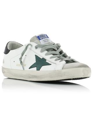 Weisse Ledersneakers mit grünem Stern Superstar GOLDEN GOOSE