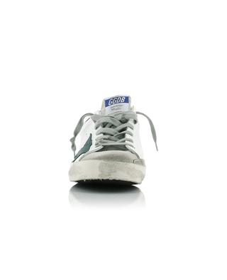 Superstar white leather sneakers with green star GOLDEN GOOSE
