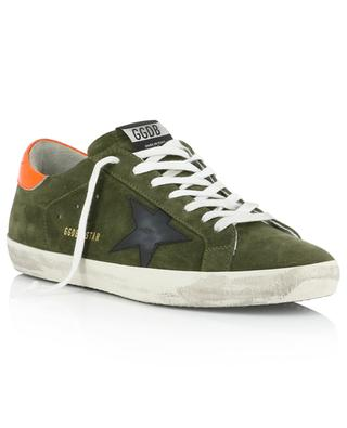 Sneakers aus Wildleder mit Neon-Detail Superstar GOLDEN GOOSE
