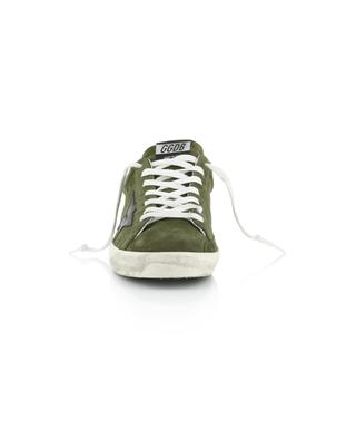 Superstar neon detail suede sneakers GOLDEN GOOSE