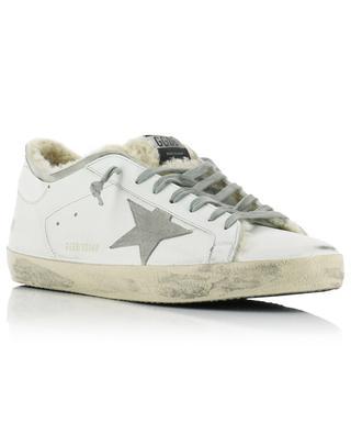 Sneakers mit Fellfutter und grauem Stern Superstar GOLDEN GOOSE