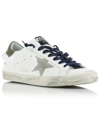 Superstar canvas detail white leather sneakers GOLDEN GOOSE