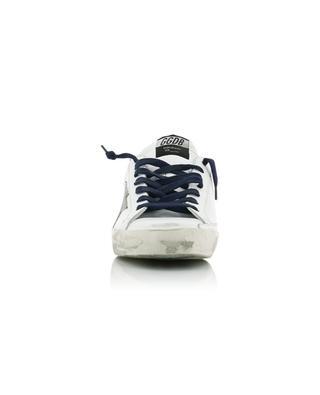 Weisse Ledersneakers mit Segeltuch Superstar GOLDEN GOOSE