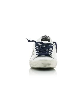 Weisse Ledersneakers mit Segeltuch Superstar GOLDEN GOOSE