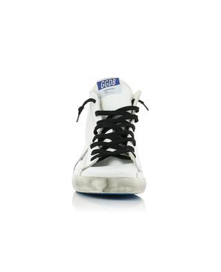 Hohe weisse Ledersneakers mit grauem Stern Francy GOLDEN GOOSE