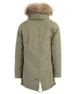 Original hodded gabardine parka with fur lining Y SALOMON ARMY