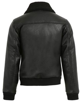 Faux leather and shearling jacket DSQUARED2