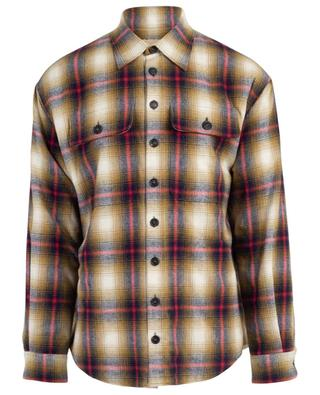 Check shirt with fake fur lining DSQUARED2
