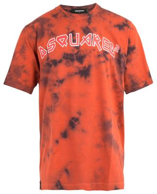 Slouch Fit tie-and-dye T-shirt with rune effect logo DSQUARED2