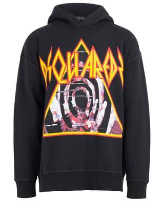 Hooded print cotton sweatshirt DSQUARED2