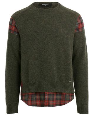 2-in-1-effect wool jumper DSQUARED2