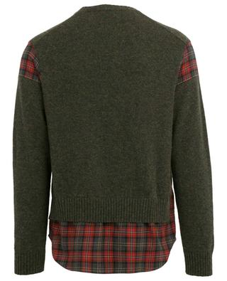 Pullover aus Wolle im Lagenlook DSQUARED2