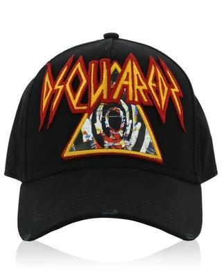 Rock Logo distressed baseball cap DSQUARED2