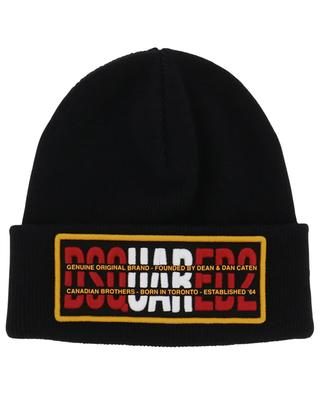 Genuine Original embroidered double layer beanie DSQUARED2