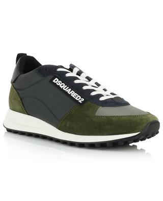 Niedrige Materialmix-Sneakers New Runner Hiking DSQUARED2