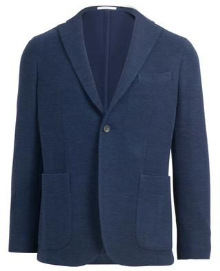 Textured virgin wool and cotton blazer BOGLIOLI