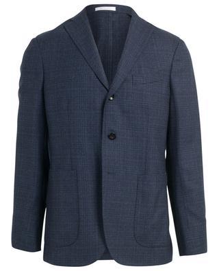 Virgin wool check blazer BOGLIOLI