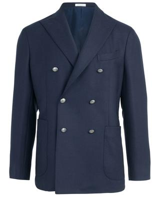 Textured virgin wool double-breasted blazer BOGLIOLI