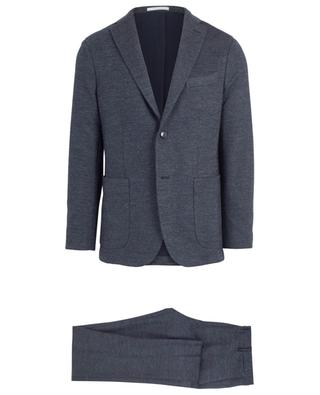 Mottled cotton and virgin wool blend suit BOGLIOLI